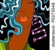 black woman - stock vector