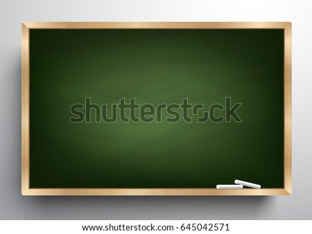 Blackboard Background And Wooden Frame Rubbed Out Dirty Chalkboard Vector Illustration