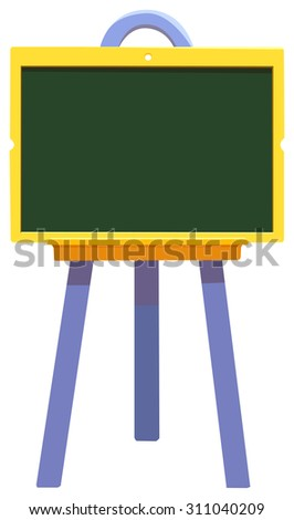 Blackboard, blank chalkboard, isolated on white, vector illustration - stock vector
