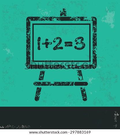 Blackboard design on green background,grunge vector - stock vector