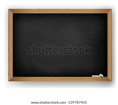 Blackboard for message chalk, vector - stock vector