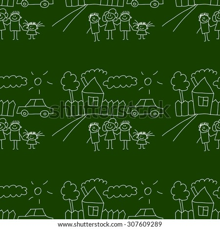 Blackboard. School. Seamless vector pattern and background