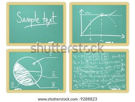 Blackboard. Vector