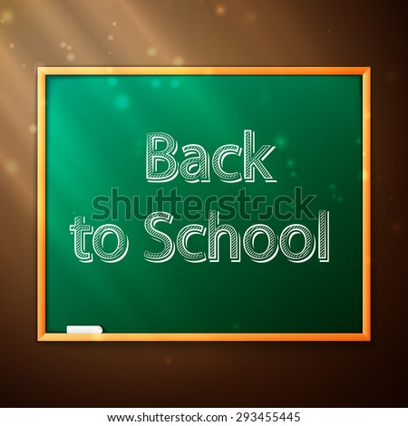 blackboard with the words Back to Schooll, excellent vector illustration, EPS 10 - stock vector