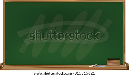 blackborad abstract art design for school - stock vector