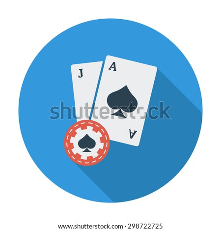 Blackjack. Flat vector icon for mobile and web applications. Vector illustration. - stock vector