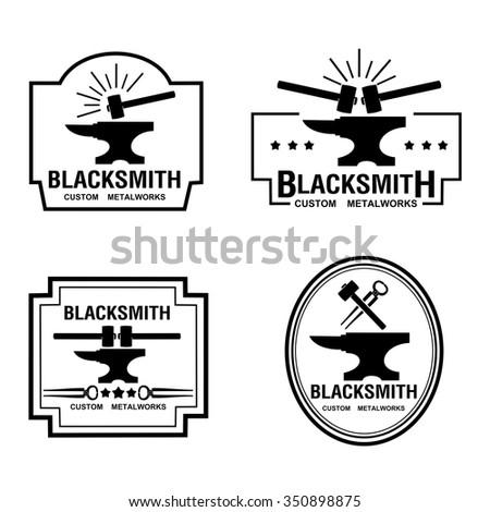 Blacksmith labels - stock vector
