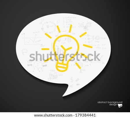 Blad idea speech bubble - stock vector