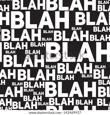 how to say blah blah blah in french