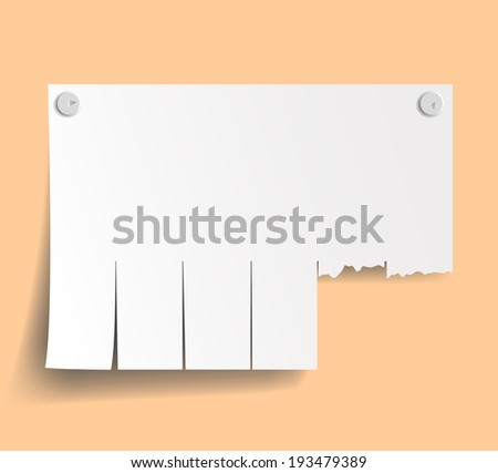blank ads on the wall - stock vector