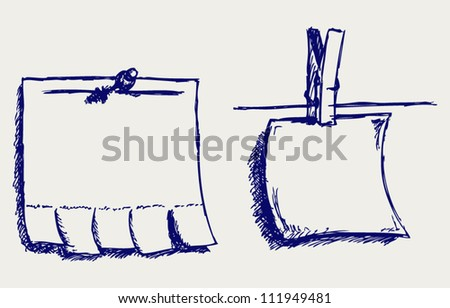 Blank advertisement. Doodle style - stock vector