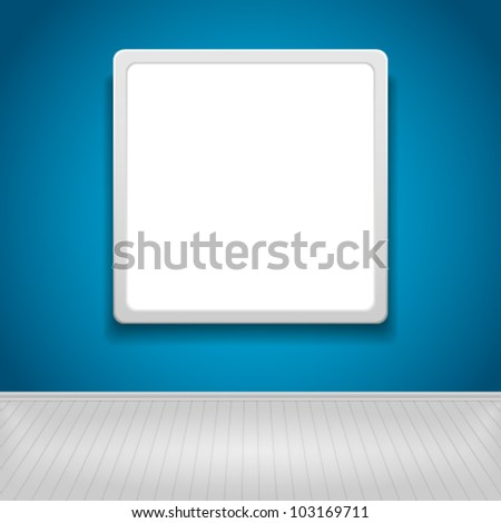 Blank advertising billboard. Vector illustration - stock vector