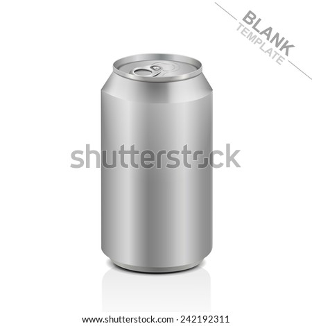 blank aluminum drink can isolated on white background - stock vector