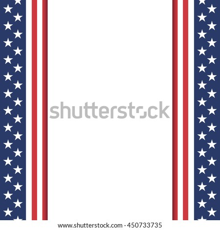 Blank American background. Poster or brochure template. Vector illustration.