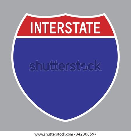 blank american interstate highway sign vector stock vector hd rh shutterstock com road sign vector art road sign vector art