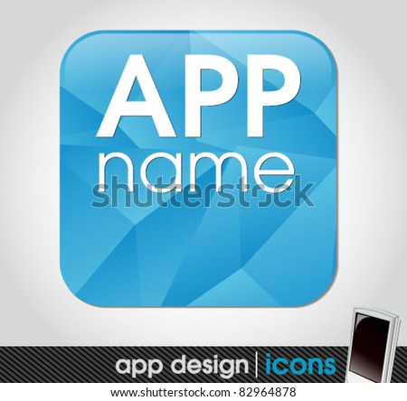 blank app icon for mobile devices - stock vector