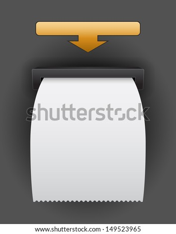 blank atm bill template - stock vector