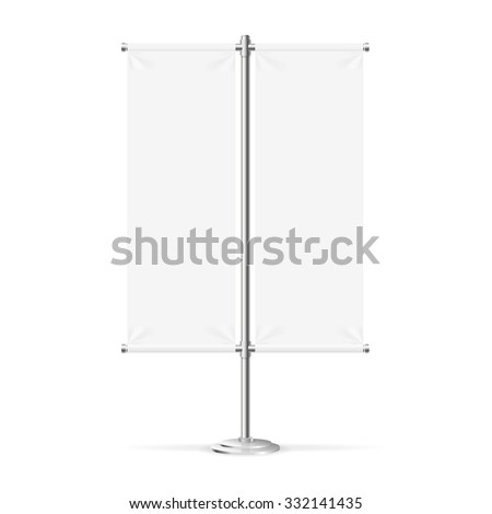 Blank Banner Flag Can Be Used For Your Advertising. Vector illustration - stock vector