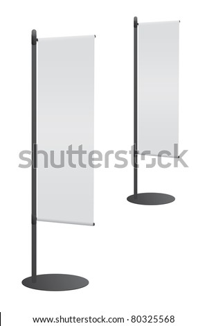Blank banner flag for designers - stock vector