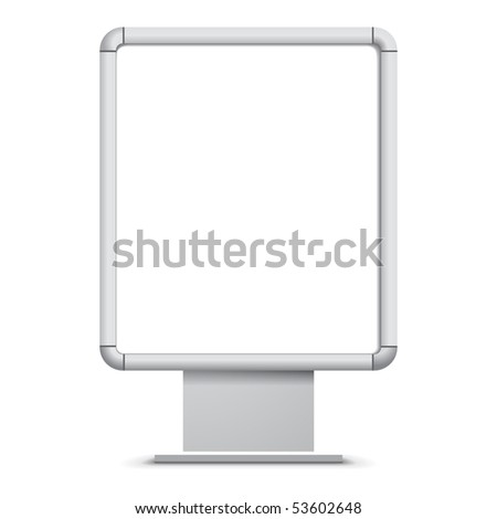 Blank Billboard - stock vector