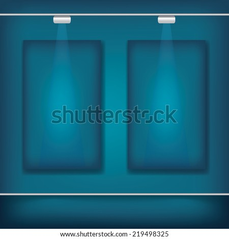 Blank billboard canvas with lighting, display template for business use, advertising concept