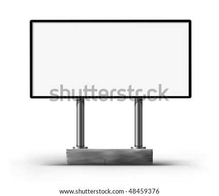 blank billboard for advertising vector illustration, isolated on white background - stock vector