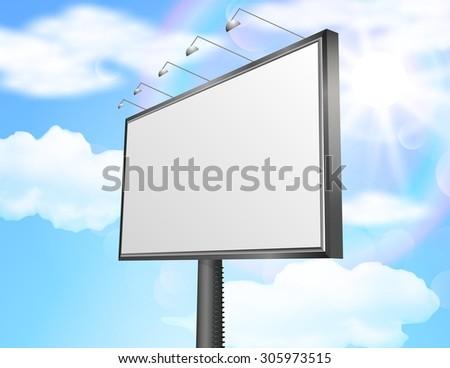 Blank billboard for new advertisement. vector - stock vector