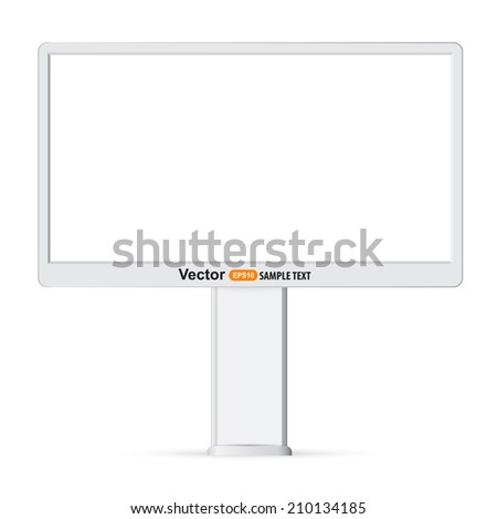 Blank billboard ready for new advertisement  - stock vector