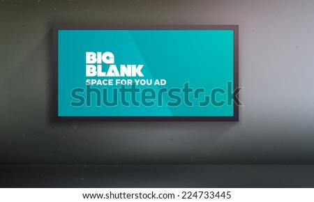 Blank billboard template | Easy to change content on the according layer | EPS10 Vector Background - stock vector
