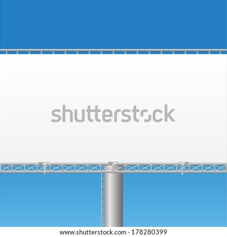 Blank billboard vector illustration - stock vector