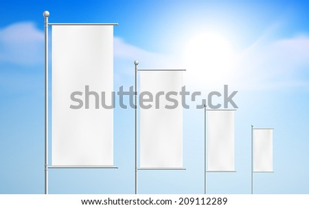 blank billboards, road signs isolated on white background - stock vector