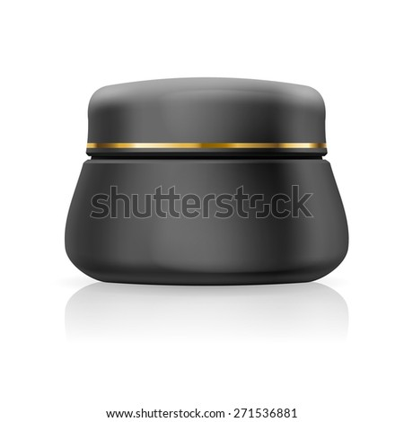 Blank black cream or gel isolated on a white background - stock vector