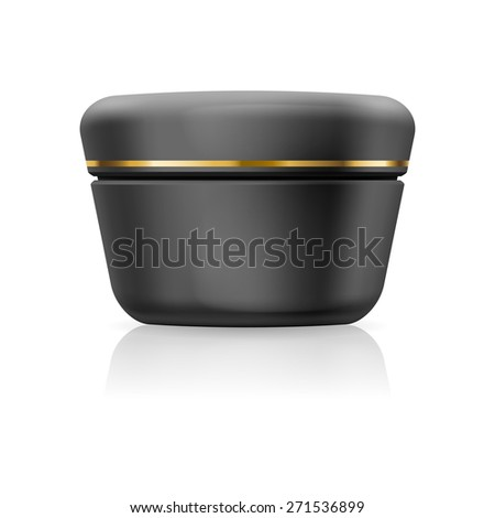 Blank black cream with golden stripe isolated on a white background - stock vector