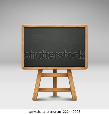 blank blackboard or sandwich board isolated on grey  - stock vector