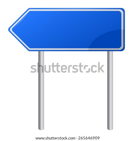 Blank Blue Road Sign - stock vector