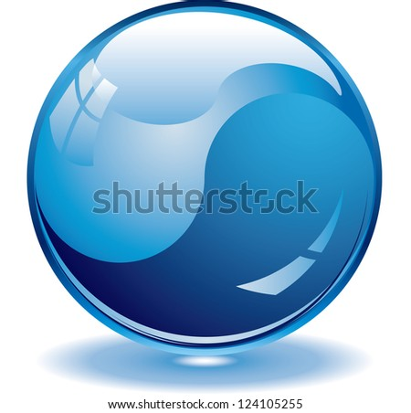 Blank blue web buttons for website or app. Vector eps 10 - stock vector