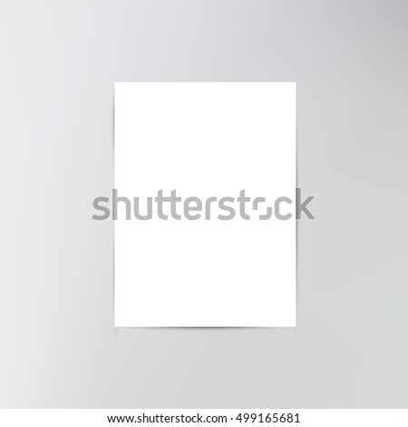Blank book cover. Blank empty magazine or book template lying on a gray background. vector illustration