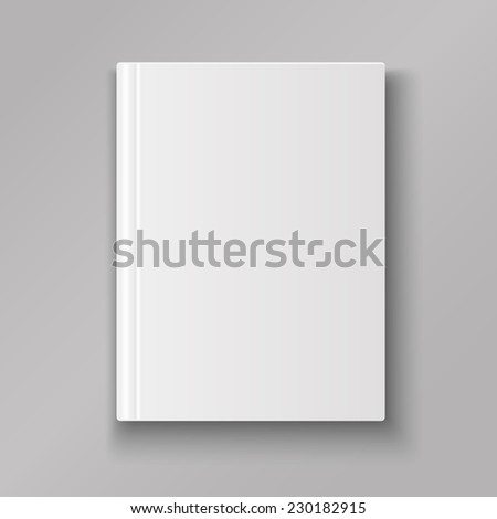 Blank book cover isolated  with shadow vector - stock vector