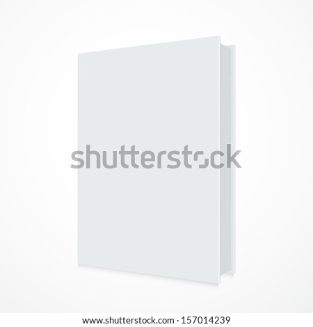 Blank book cover on white background - Vector illustration
