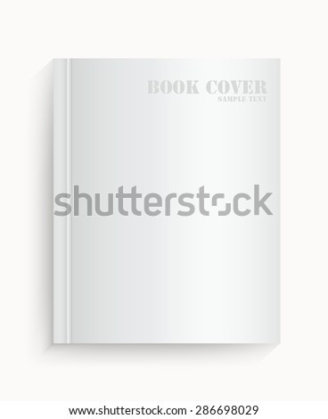 Blank book cover on white background - Vector illustration - stock vector