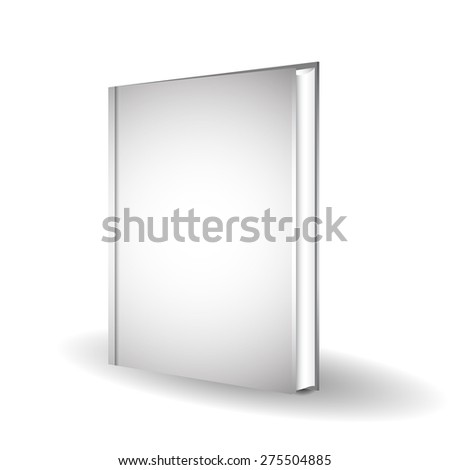 Blank book cover over white background - stock vector