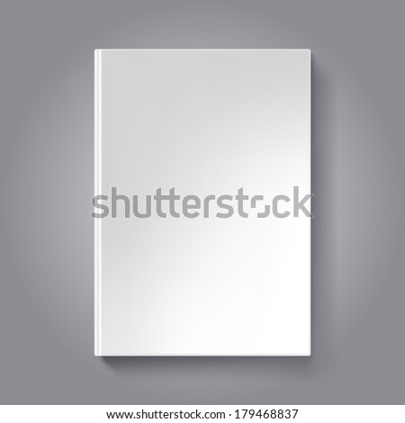 Blank Book Cover Template Book Isolated Stock Photo (Photo, Vector ...
