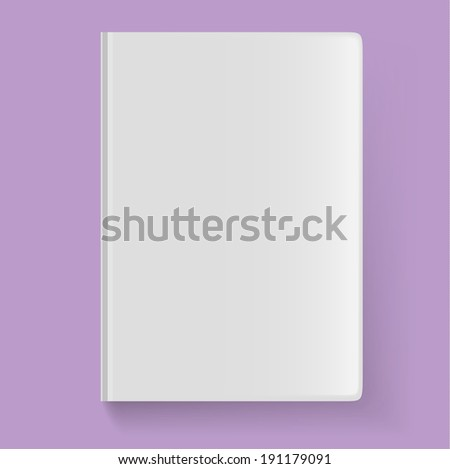 Blank book cover. Vector illustration - stock vector