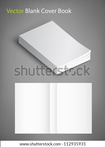 3d book cover template blank book cover vector