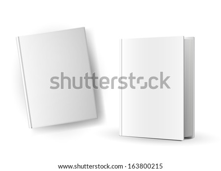 Blank book covers over white background - stock vector