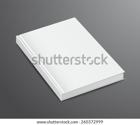 Blank Book Design Isolated on Dark Background, Hardcover - stock vector