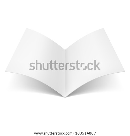 Blank book spread isolated on white background - stock vector