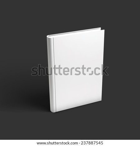 Blank book, textbook, booklet or notebook mockup. Object for design and branding. Vector Illustrator EPS10. - stock vector
