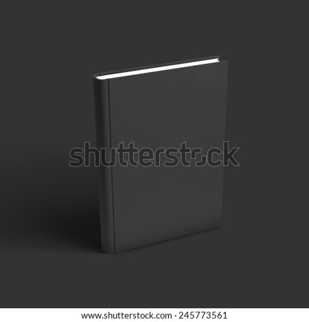 Blank book, textbook, booklet or notebook mockup. Object for design and branding. Vector Illustration EPS10 - stock vector