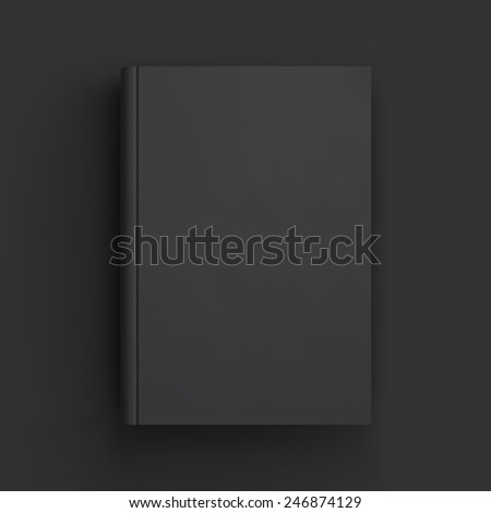 Blank book, textbook, booklet or notebook mockup. Object for design and branding. Vector Illustrator EPS10 - stock vector